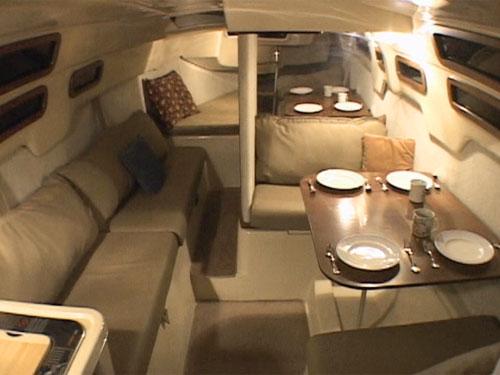 MacGregor 26M interior from cockpit (new version)