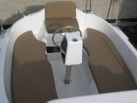 MacGregor 26M cockpit with cushions